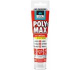 Bison Poly Max Crystal Express rýchloschnúce univerzálne montážne lepidlo a tmel Číry 115 g