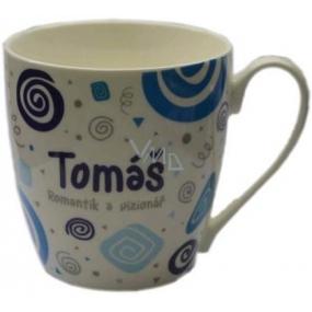Nekupto Twister hrnek se jménem Tomáš modrý 0,4 litru