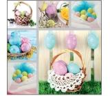 Veľkonočné papierové obrúsky košík s vajíčkami 33 x 33 cm 3 vrstvové 20 kusov
