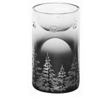 Yankee Candle Winter Trees skleněná čirá a stříbrná aromalampa 15 x 80cm