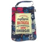 Albi Skladacia taška na zips do kabelky s menom Natálka 42 x 41 x 11 cm