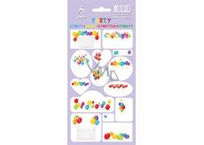 Arch Samolepky do domácnosti, na dárky Party fialkové 14 etiket