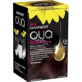 Garnier Olia barva na vlasy bez amoniaku 3.16 Tmavě fialová