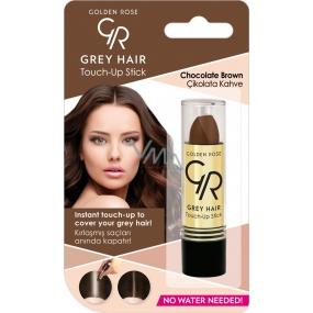 Golden Rose Gray Hair Touch-Up Stick farbiaci korektor na odrastené a šedivé vlasy 08 Chocolate Brown 5,2 g