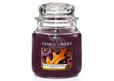 Yankee Candle Autumn Glow - Žiarivý jeseň vonná sviečka Classic strednej sklo 411 g