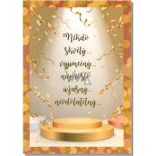 Albi Hrací přání do obálky Z lásky Text a konfety na piedestalu Simply The Best 14,8 x 21 cm