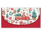 Nekupto Priania obálka na peniaze vianočný Auto sa stromčekom 116 x 220 mm