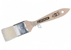 Spokar Mašlovačka plochá, drevené držadlo, bielená štetina, 21 x 3,5 cm.