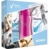 Rexona Freshness & Care sprchový gel 250 ml + Fresh Shower Clean deodorant spray 150 ml + sportovní láhev 500 ml, kosmetická sada