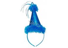 Klobúčik s labutienkou modrý, čelenka