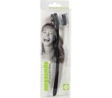 MegaSmile Black Whitening Soft Kartáček na zuby měkký s technologií uhlíkových vláken 2 kusy, duopack
