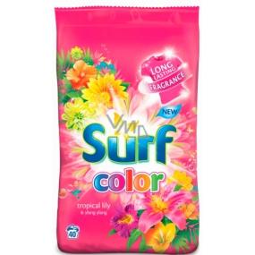 Surf Color Tropical Lily & Ylang Ylang prášek s aviváži na praní barevného prádla 20 dávek 1,4 kg
