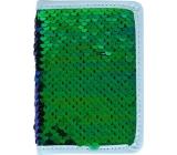 Albi Diár 2020 mini Zelený flitr 11 x 7,5 x 1 cm