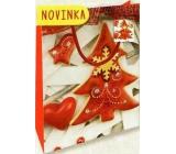Nekupto Darčeková papierová taška malá 14 x 11 x 6,5 cm Vianočná 1797 30 WBS
