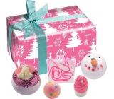 Bomb Cosmetics Ružové Vianoce - Dreaming of a Pink Christmas balistik 2x160 g + špalíček 50 g + gulička 30 g + mydlo 100 g, kozmetická sada