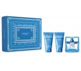 Versace Eau Fraiche Man toaletná voda pre mužov 50 ml + sprchový gél 50 ml + balzam po holení 50 ml, darčeková sada