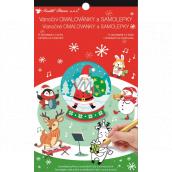 Samolepky a maľovanky vianočné Santa 14 x 23 cm