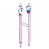 Colorino Gumovatelné pero Jednorožec fialovej, modrá náplň 0,5 mm 1 kus
