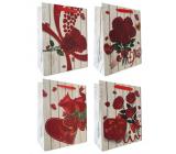 Emocion Darčeková papierová taška 180 x 230 mm Srdce, ruža 1 kus