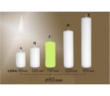 Lima Svíčka hladká světle zelená válec 60 x 150 mm 1 kus