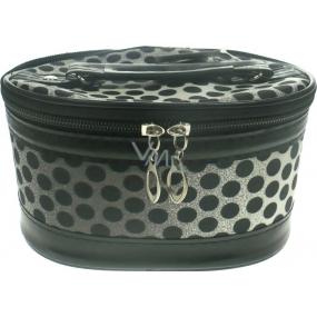 Kozmetický kufrík bodka čierny 19 x 14,5 x 12 cm 70590