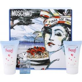 Moschino Funny! toaletná voda 4 ml + telové mlieko 25 ml + sprchový gél 25 ml, darčeková sada