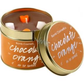 Bomb Cosmetics Čokoláda pomaranč Vonná prírodné, ručne vyrobená sviečka v plechovej dóze horí až 35 hodín