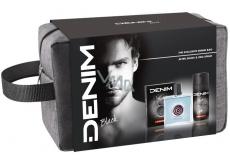 Denim Black voda po holení pre mužov 100 ml + deodorant sprej 150 ml + kozmetická etue, kozmetická sada