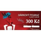 Darčekový poukaz VMD Drogéria na nákup tovaru v hodnote 300 Sk