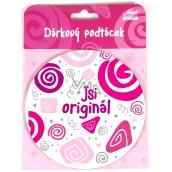 Nekupto Twister Podtácek růžový Jsi originál