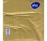 Aha Vianočné papierové obrúsky jednofarebné 3 vrstvové 33 x 33 cm 20 kusov Zlaté