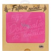 Albi Fitness uterák Dokonalá do detailu ružový 90 x 50 cm