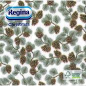 Regina Vianočné papierové obrúsky Borovica-šišky 1 vrstvové 33 x 33 cm 20 kusov