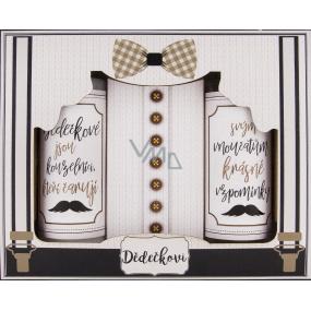 Bohemia Gifts Dedkovi sprchový gél pre mužov 100 ml + šampón na vlasy 100 ml + soľ do kúpeľa 110 g, kozmetická sada
