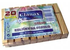 Clanax dřevěné kolíčky na prádlo 20 kusů