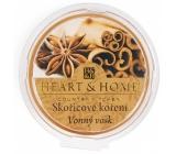 Heart & Home Škoricové korenia Sójový prírodný voňavý vosk 27 g