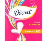 Discreet Normal No Perfume Economy slipové intimní vložky pro každodenní použití 60 kusů