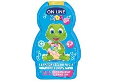 On line Kids Bubble Gum - Žvýkačka 2v1 šampón a sprchový gel 250 ml