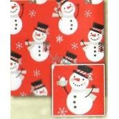 Nekupto Baliaci papier vianočné pre deti Červený, snehuliak 0,7 x 2 m