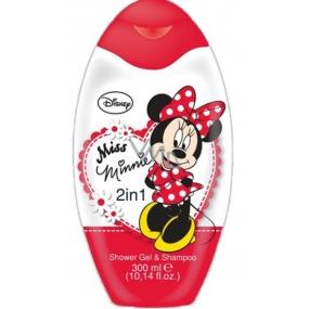 Disney Miss Minnie 2v1 sprchový gél a šampón na vlasy pre deti 300 ml