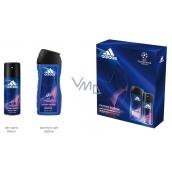 Adidas UEFA Champions League Victory Edition dezodorant sprej pre mužov 150 ml + sprchový gél 250 ml, kozmetická sada
