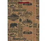 Nekupto Darčeková papierová taška 24,5 x 19 x 8 cm Mountains 570 KHM