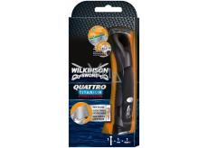 Wilkinson Quattro Titanium Precision holiaci strojček 1 kus a 1 náhradná hlavica