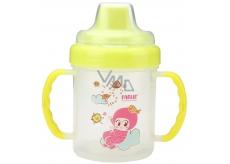 Baby Farlin Magic Cup hrníček netekoucí s tvrdým pítkem pro děti od 6 měsíců různé barvy AET-CP011-B 200 ml