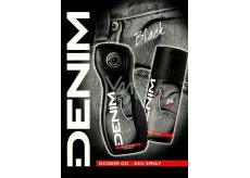 Denim Black sprchový gel pro muže 250 ml + deodorant sprej 150 ml, kosmetická sada