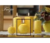 Lima Mramor Frézíe vonná svíčka žlutá koule průměr 80 mm 1 kus
