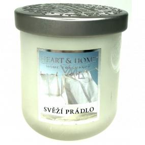 Heart & Home Svieža bielizeň Sójová vonná sviečka veľká horí až 75 hodín 340 g