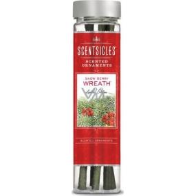 ScentSicles Scented Ornaments Snow Berry Wreath - Veniec z červených bobúľ vonný záves na stromček 6 kusov