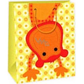 Ditipo Darčeková papierová taška 26,4 x 13,7 x 32,4 cm žltá opička AB