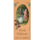 Bohemia Gifts & Cosmetics Mléčná čokoláda Veselé Velikonoce dívka s květy, dárková 100 g